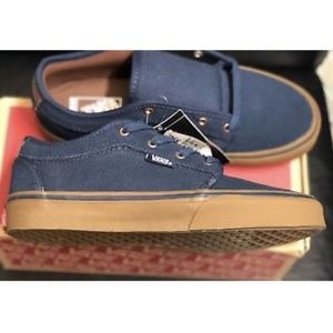 ff15beff25aef5 Vans Shoes - Vans Chukka Low Rich Navy Gum Shoes Size Youth 4.5